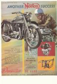 NORTON DOMINATOR 1952 POSTCARD